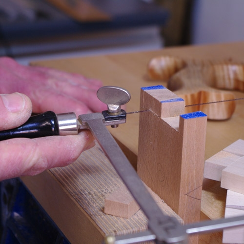 Cutting Dovetails - Fret saw