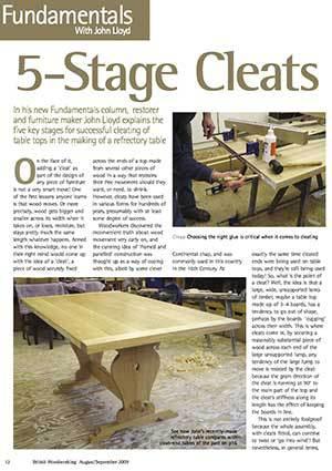 ... with John Lloyd – 5 Stage Cleats - John Lloyd Fine Furniture