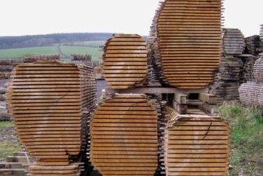 008 EWT Air dried timber stack